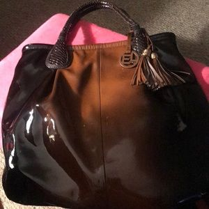 Two tone patent leather Elliott-Lucca lLarge Hobo